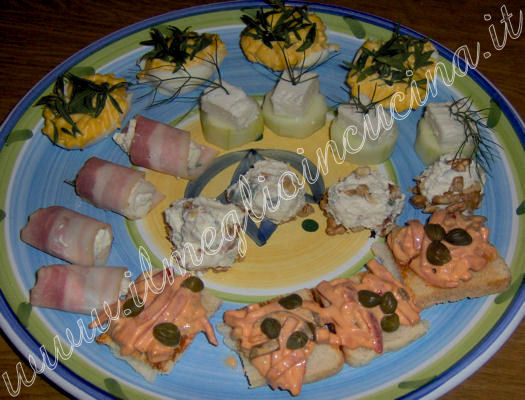 Aromatic herbs appetizers