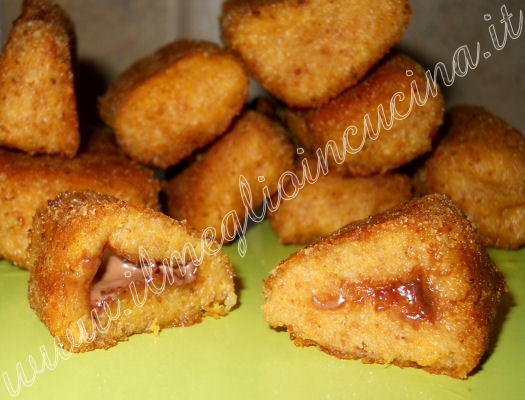 Pumpkin croquettes with chocolate