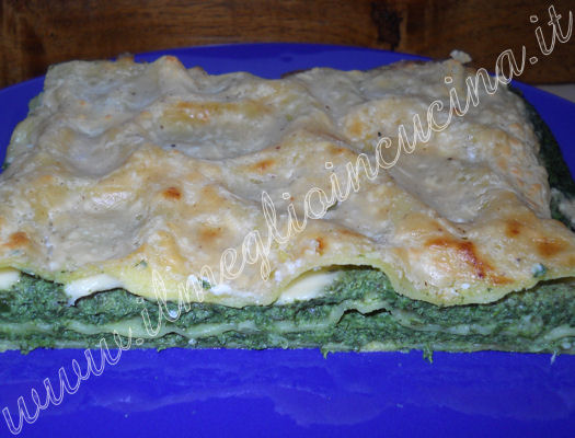 Ricotta and spinach lasagna