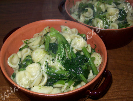 Turnip Tops pasta