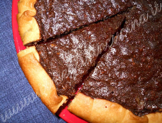 Chocolate and ricotta tart
