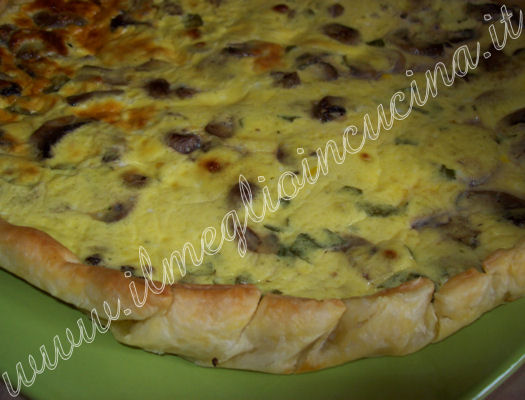 Mushroom Quiche with Mint