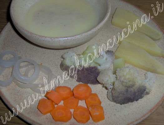 Vapor cooked Vegetables with Fondue